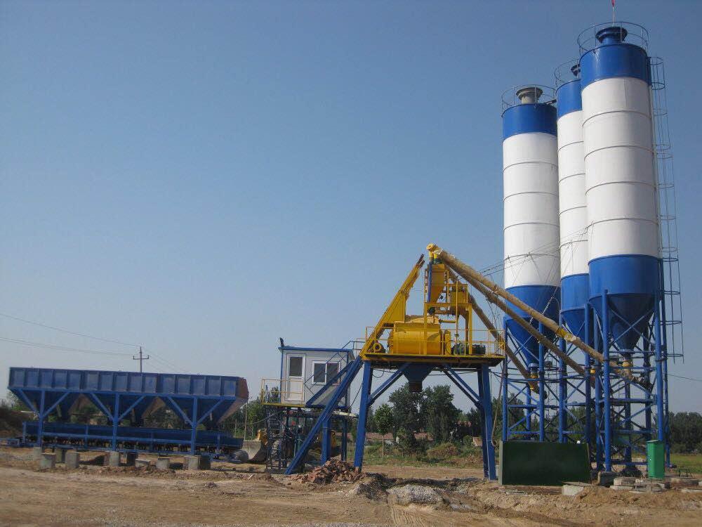 Grade maintenance of concrete mixer